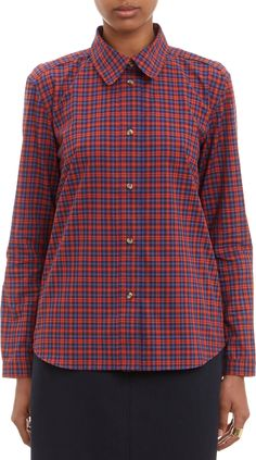A.P.C. - Red Plaid Shirt