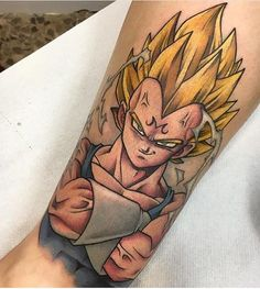 """955 Likes, 40 Comments - #/@tattoo_artwork (@tattoo_artwork) on Instagram: """"Dragon Ball Z tattoo done by @4ndy_w4lker @4ndy_w4lker . #tattoo_artwork . #tattoo #tattoos #tat…"""""""