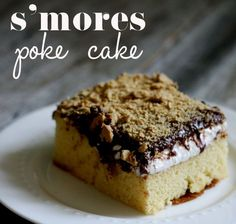 s'mores poke cake - easy & amazing