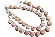 Rhodochrosite Smooth Coin Beads Quality B 7.50 to 9.50 mm #rhodochrosite #rhodochrositebeads #rhodochrositebead #rhodochrositecoin #coinbeads #beadswholesaler #semipreciousstone #gemstonebeads #gemrare #beadwork #beadstore #bead