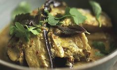 Red aubergine curry