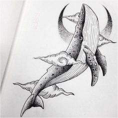How to Choose a Tattoo Artist Whale Drawing, Doodle Drawing, Drawing Sketches, Animal Drawings, Cool Drawings, Tattoo Drawings, Whale Tattoos, Narwhal Tattoo, Japon Illustration