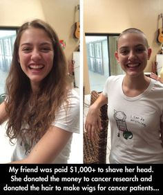 She's A True Role Model....and she looks great with a shaved head!!