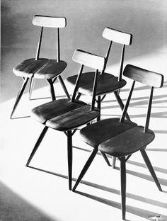 Pirkka chairs design Ilmari Tapiovaara 1955 by Artek Outdoor Dining Furniture, Dining Chairs, Wooden Chairs, Chair Design, Furniture Design, Smart Furniture, Scandinavian Furniture, Interior Styling, Mid-century Modern