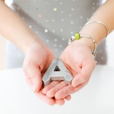 Mini Anthropologie Inspired Zinc Letters DIY made from children's alphabet magnets has many uses!