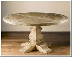 round pedestal timber table