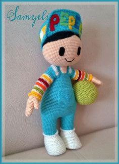 İlk Pepee'yi amigurumiye yeni başladığım zamanlarda Yaseminkale'nin… When I first started amigurumi, I knitted the first Pepee with the recipe of Yaseminkale. Crochet Doll Pattern, Crochet Patterns Amigurumi, Baby Knitting Patterns, Crochet Dolls, Pet Toys, Doll Toys, Baby Toys, Holiday Crochet Patterns, Crochet Fairy