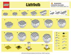 Instructions for building a LEGO lightbulb