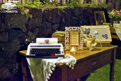 Tavolo delle dediche per matrimonio serale