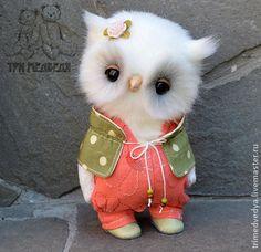 Розочка - белый,сова,мудрая сова,мудрость,подарок,сувенир,ручная работа