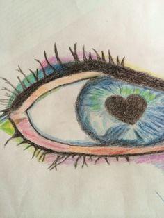 Drawed eye