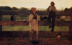 Milking Time 1875 by Homer Winslow