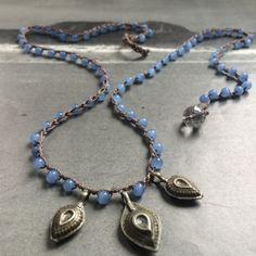 Bohemian Blue Multi-Wrap Necklace or Charm Bracelet