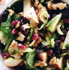 Cranberry walnut salad. Easy appetizer recipes. The Rising Damsel