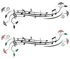 Vectores de Notas Musicales [Cuaderno de Musica] [EPS y AI]                                                                                                                                                     Más