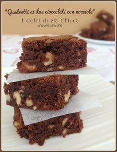 Quadrotti+ai+due+cioccolati+con+nocciole