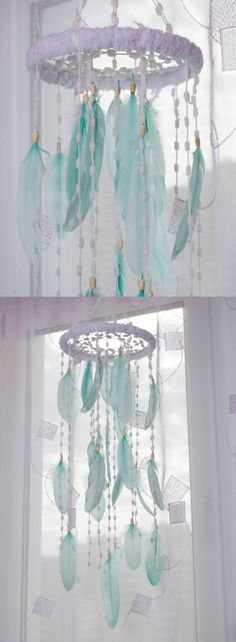 Mint Bаbу Mobile Nursery Decor Christmas Snow Mobiles bedding Fluffy Dream Catcher Kids Wedding mint Bedroom Dreamcatcher Boho Baby Girl Boy by MagicalSweetDreams on Etsy https://www.etsy.com/listing/398774459/mint-babu-mobile-nursery-decor-christmas