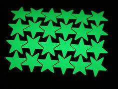 30 big stickers glow in the dark stars