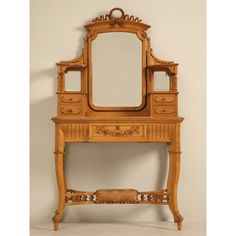 American Victorian Dressing Table with Mirror - Old Plank Antiques