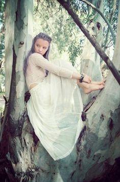 Woodland Shoot Model Pretty Fashion Editorial
