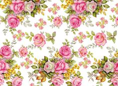 """Beautiful pink rose bouquets with tiny yellow flower accents. Each bouquet measures approximately 2-1/2"""" tall. Order # Sheet Size Sheet Metric Sheet Price T256"""