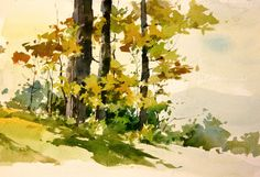 Touchstone autumn, by Bill Vrscak. -      Watercolor.
