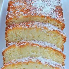 Moist Coconut Pound / Loaf Cake @keyingredient #cake