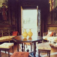"""Interior of ""Le Pagode Chinois"" at Chateaux Groussay inspiration"""
