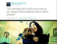 """Can't watch this without weeping. """"Always""""  JKR tells a far better story in that one word..."""