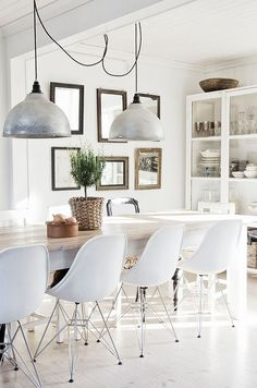 77 Gorgeous Examples of Scandinavian Interior Design Dining Room Wall Dining room wall decor Dining room table decor Rustic home decor diy Rustic living room decor Farmhouse dining room decor Dinning table decor Upper Sweet Home, Home Decoracion, Modern Farmhouse Kitchens, Farmhouse Chic, Modern Farmhouse Table, Contemporary Kitchens, Farmhouse Interior, Rustic Table, Contemporary Bedroom