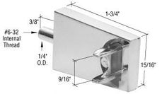 C.R. LAURENCE M6136 CRL Chrome Towel Bar Bracket with Threaded Stud by C.R. Laurence. $10.47. Available With or Without Threaded Stud. Fits Workright Brand Doors. Fits Workright Brand Doors Available With or Without Threaded Stud The plated diecast CRL Towel Bar Bracket has a 6-32 internal threaded stud and fits Workright brand doors and towel bars. Color: Chrome Minimum Order: 1 Package One pair of brackets with installation screws per package.