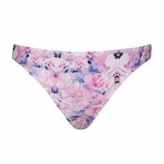 Ally Fashion Pink floral print bikini bottom ($5.59) ❤ liked on Polyvore featuring swimwear, bikinis, bikini bottoms, swimsuits, print, pink floral bikini, floral bathing suit, pink bikini, pink floral swimsuit en swimsuits two piece