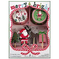'merry and bright' cupcake kit by vivi celebrations | notonthehighstreet.com