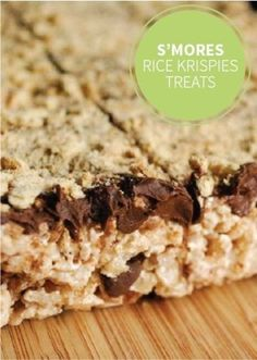 S'mores Rice Krispies Treats® — Add chocolate chips and crumbled graham crackers to your classic recipe for an easy and delicious dessert your kids will love to make and munch on!