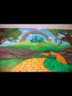 Elegant Wizard Of Oz Themed Mural By Caras Creations For A Childu0027s Nursery. Look At  The Great Ideas