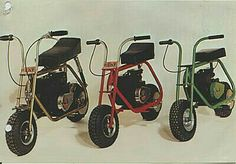 This is the way to go as a kid, a frame, seat & engine! . . . CAT MINIBIKES