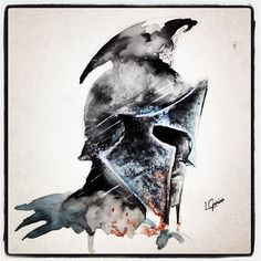 "288 curtidas, 20 comentários - LCjunior - Juninho (@lcjuniortattoo) no Instagram: ""300 rise of na empire • Watercolor #300 #movie #fanart #espartano #sparta #warrior #art #arte…"""