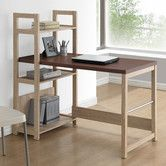An open design makes the Baxton Studio Hypercube Writing Desk a versatile desk for home offices, bedrooms, family rooms, or studies. Home Desk, Home Office Desks, Office Furniture, Shelf Furniture, Furniture Outlet, Modern Furniture, Deep Shelves, Large Shelves, Bookshelf Desk