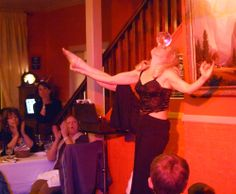 Heather has years of circus and mime experience, and it really shines here with this mesmerizing crystal ball routine. Winter Magic with Heather Rogers at The Groveland Hotel, January 2014.