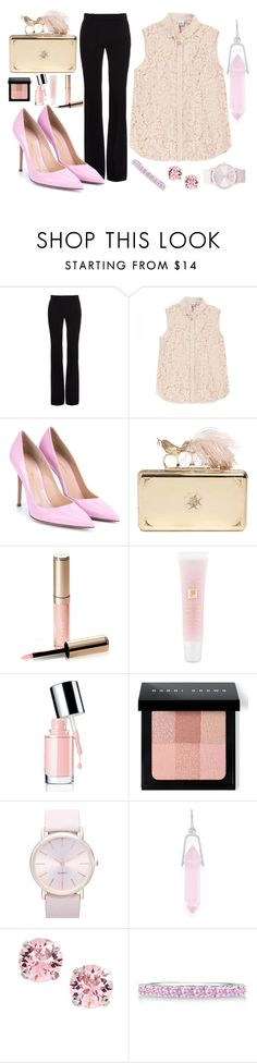 """Rink office style"" by sashazaiats on Polyvore featuring Alexander McQueen, Iris & Ink, Gianvito Rossi, By Terry, Lancôme, Bobbi Brown Cosmetics, BP., Alex and Ani, L. Erickson and Allurez"