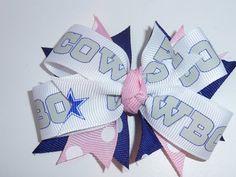 Pink Dallas Cowboys Hair Bow