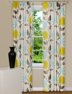 Curtains with a pattern that look nice with neutral walls.  Perfect!