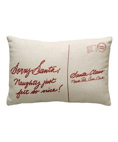 Another great find on #zulily! 'Sorry Santa' Linen Pillow #zulilyfinds