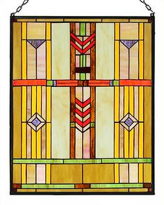 Perfect to hang in windows rather than curtains! Prairie Stained Glass Panel