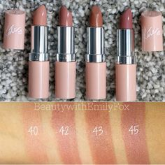 New Rimmel Lasting Finish by Kate Moss Nude Collection lipsticks! I will be doing a lip swatch video on them I'm just trying to see if I can get my hands on the shade 48 that isn't sold in Canada! #BeautywithEmilyFox