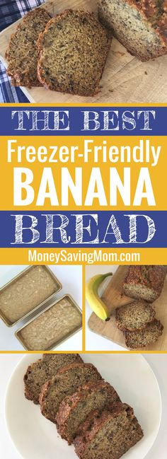 This is our favorite freezer-friendly banana bread recipe. It's especially yummy with some chocolate chips sprinkled into the batter!