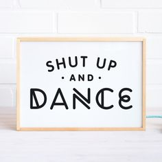 Lightbox with Dance Quote / Wooden Light box Lamp by MadeofSundays