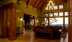 Great Room with a beautiful view of South Carolina's Blue Ridge Mountains!