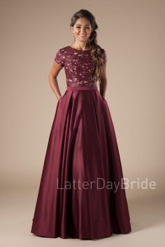 Modest evening Dresses Luxury Harlo Burgundy Wedding In 2019 Prom Dresses Long Modest, Prom Dresses With Sleeves, Evening Dresses, Burgundy Bridesmaid Dresses, Burgundy Dress, Burgundy Wedding, Banquet Dresses, Cocktail Gowns, Frack
