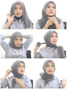 Tutorial Hijab Yang Simpel Buat Ke Pesta Tutorial Hijab Modern, Hijab Style Tutorial, Tutorial Hijab Wisuda, Mode Turban, Turban Hijab, Casual Hijab Outfit, Hijab Chic, Hijab Fashion, Fashion Outfits